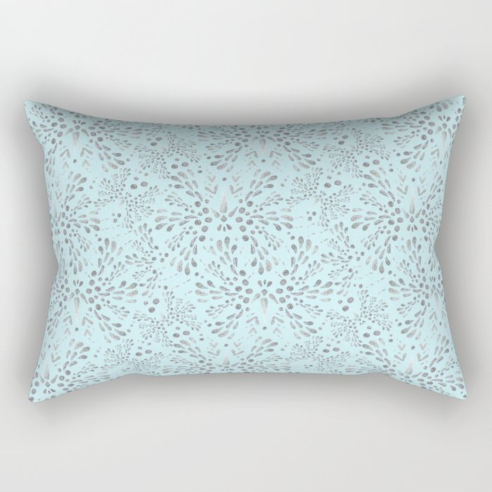 Silver Twinkle Rectangular Pillow