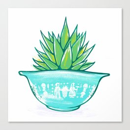 Pyrex and Plants Canvas Print