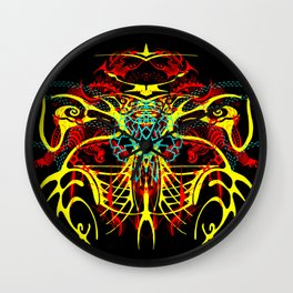 We come in peace Wall Clock