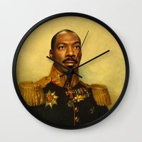 replaceface Wall Clocks featuring Eddie Murphy - replaceface by replaceface