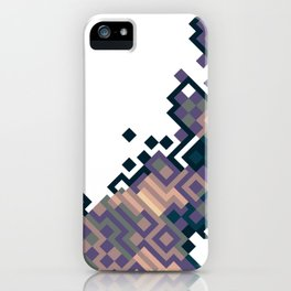 Of a Hard-Edge Eggplant Meander... iPhone Case