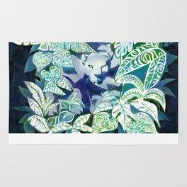 Jungle Jaguar Cat water colour illustration Rug