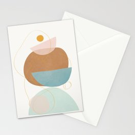 Soft Abstract Shapes 12 Stationery Cards