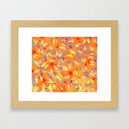 Tangerine butterflies Framed Art Print