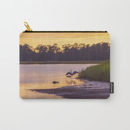 Heron on the River at Sunset Carry-All Pouch
