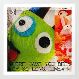 Plushes and mosters #1 Art Print