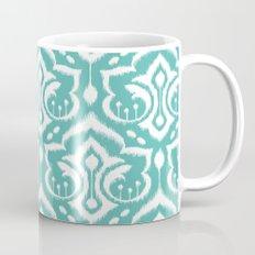 Ikat Damask Aqua Mug
