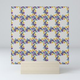 BALI0 BLUE pat.0 sm Mini Art Print