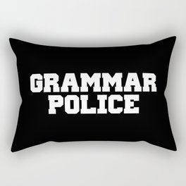 Grammar Police Funny Quote Rectangular Pillow