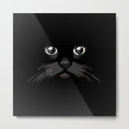 Cat Cute Face Metal Print