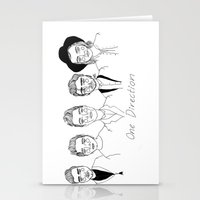 cactei Stationery Cards featuring One Direction by ☿ cactei ☿