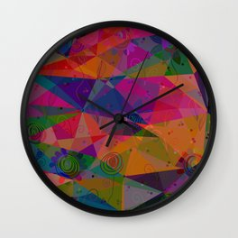 Geometry and flower Wall Clock