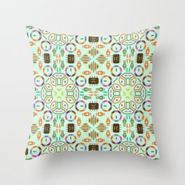"Seamless pattern in the style of ""printed circuit board"" Throw Pillow"