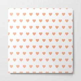 Polka dot hearts - pink Metal Print