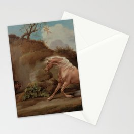 George Stubbs - Horse Frightened by a Lion Stationery Cards