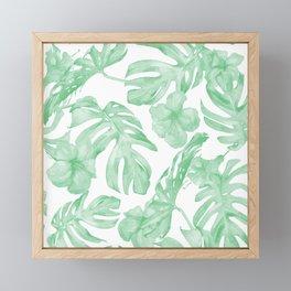 Tropical Island Republic Green and White Framed Mini Art Print