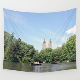 Central Park Lake Wall Tapestry