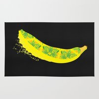 banana Area & Throw Rugs featuring Banana by SaraWired