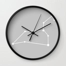 Leo (White & Silver) Wall Clock