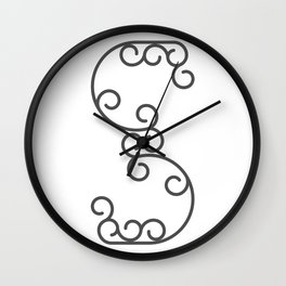 """Letter """"S"""" in beautiful design Fashion Modern Style Wall Clock"""