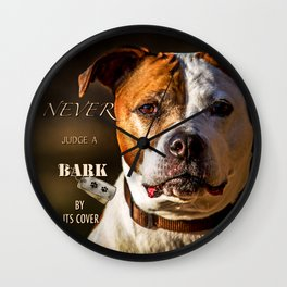 Pit Bull Rescue Poster Wall Clock
