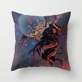 Black Space Demon Throw Pillow