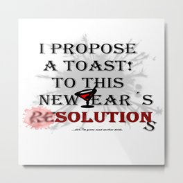 New Year's Resolutions Metal Print