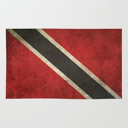 Old and Worn Distressed Vintage Flag of Trinidad and Tobago Rug