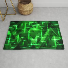 Ultramarine green intersections on a bright metal background. Rug