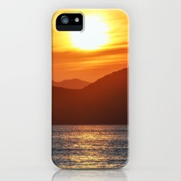 Beautiful seascape - Three Brothers Rocks in Pacific Ocean at sunset iPhone Case