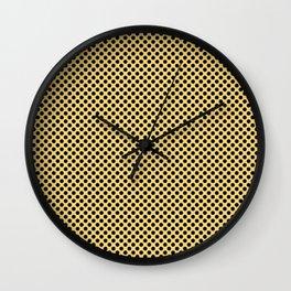 Lemon Drop and Black Polka Dots Wall Clock