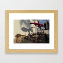 Umbrellas in a row Framed Art Print