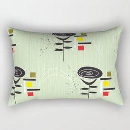MId Century Modern Boomerang Rose Rectangular Pillow