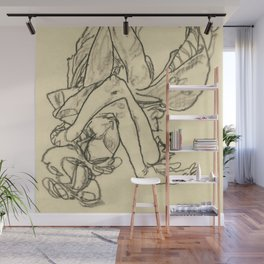 "Egon Schiele ""Woman Lying on her Back with Crossed Arms and Legs"" Wall Mural"