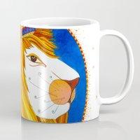 leo Mugs featuring Leo by Sandra Nascimento