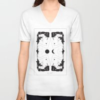 klimt V-neck T-shirts featuring Klimt Tarot Card by Anna McKay