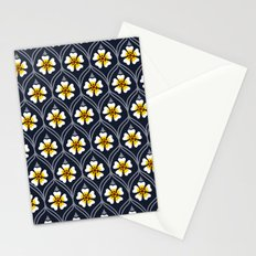 abstract white flower pattern Stationery Cards