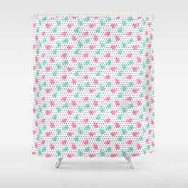 Freely Birds Flying - Fly Away Version 1 - Pewter Dots Color Shower Curtain