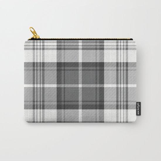 Black & White Tartan Carry-All Pouch