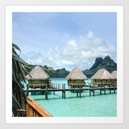 Tahitian Paradise View Art Print