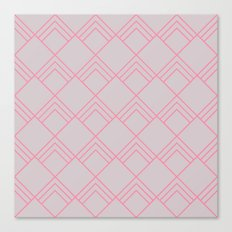 Diamond Art Deco; - Pink Canvas Print