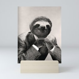 Gentleman Sloth with Assorted Pose Mini Art Print