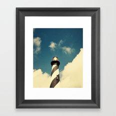 Lighthouse in the Sky Framed Art Print