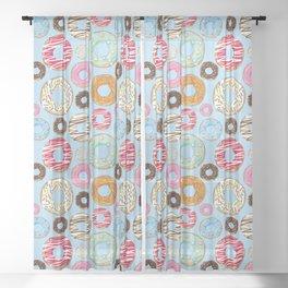 Donut pattern Sheer Curtain