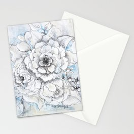You Are Beautiful - Mixed Media Painting By Jennifer Lorton Stationery Cards