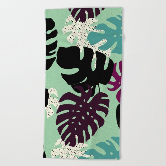 Monstera 02 Beach Towel