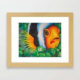 Hidden Clownfish Framed Art Print