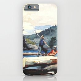Hudson River Logging 1897 By WinslowHomer | Reproduction iPhone Case