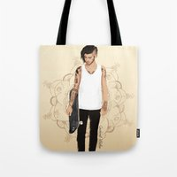 zayn Tote Bags featuring Skater Zayn  by Coconut Wishes