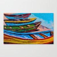 boats Canvas Prints featuring Boats by Sartoris ART